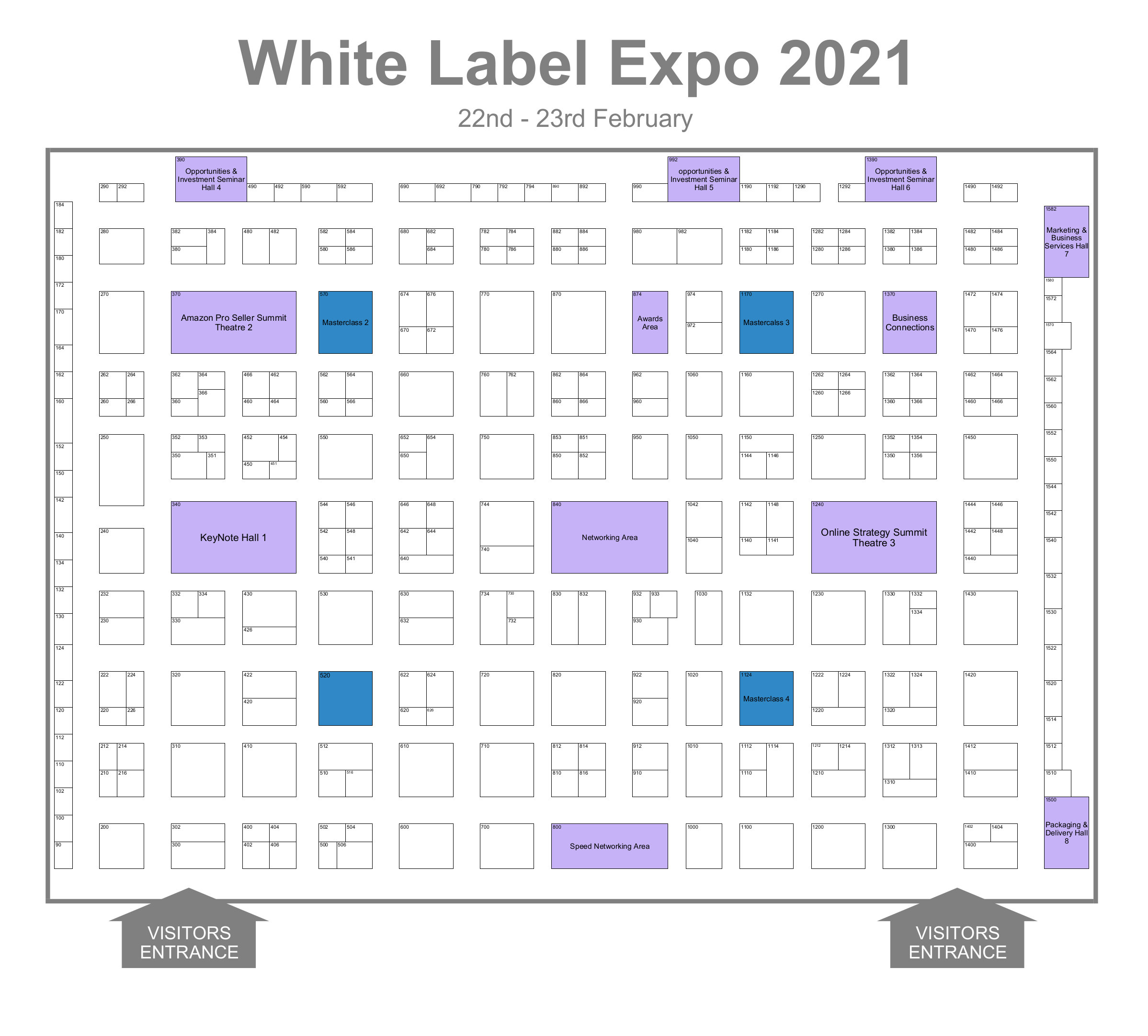 White Label World Expo London Floorplan